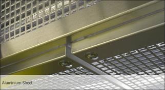 Алюминиевая лестница с нижним креплением