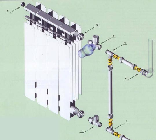 подключение радиаторов двухтрубное