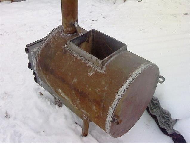 Печка из трубы своими руками
