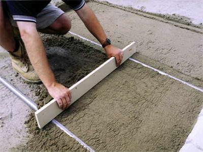 Укладка на щебеночно-песчаную