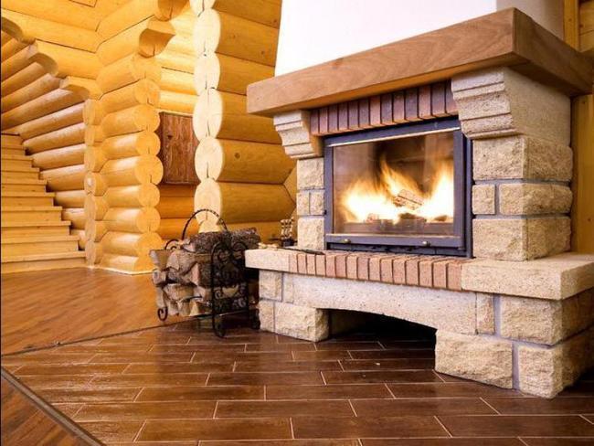 Установка камина в деревянный дом мангал кованый с дымоходом
